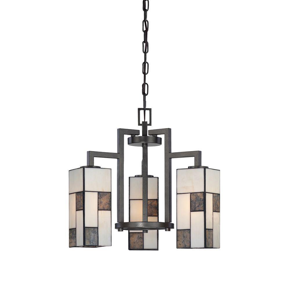 Bradley 3-Light Charcoal Interior Incandescent Chandelier