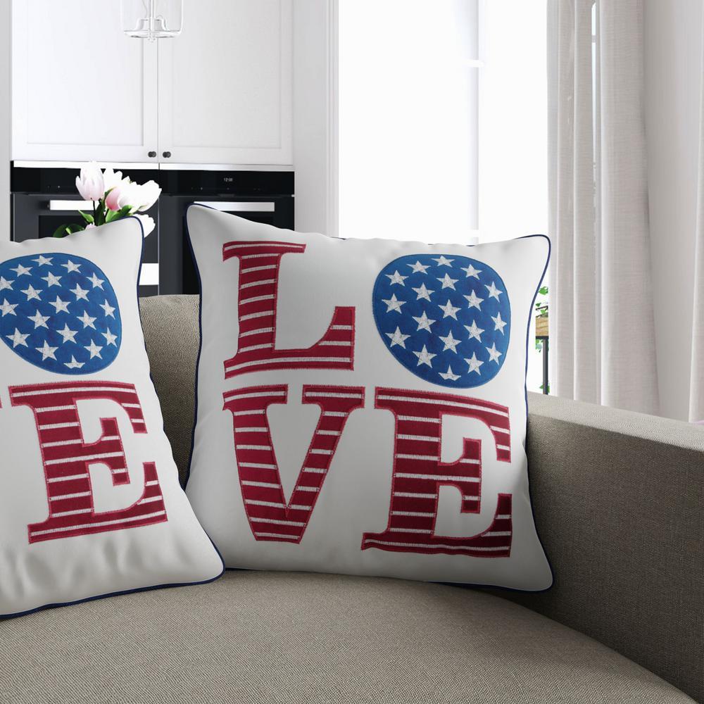 Patriotic Flag Multicolor Decorative Pillow (Set of 2)
