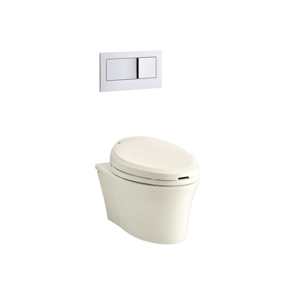 KOHLER Veil Wall-Hung Elongated Toilet Bowl Only in Biscuit
