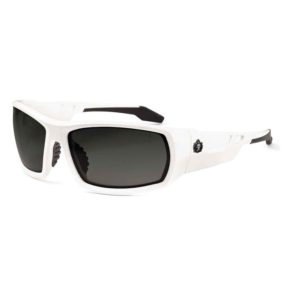 Skullerz Odin White Safety Glasses, Tinted Lens - ANSI Certified