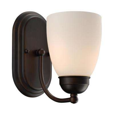 Clayton 1-Light Rubbed Oil Bronze Sconce