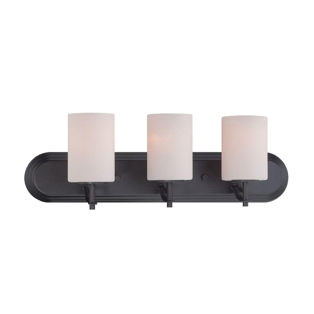 Designers fountain cassina 3 light biscayne bronze bath for Cassina lighting