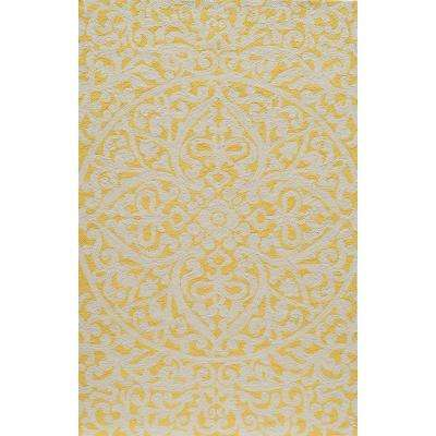 Terrace Gold 8 in. x 10 in. Indoor/Outdoor Area Rug