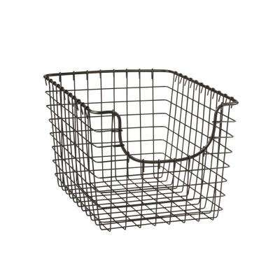 Scoop 9.75 in. W x 12.75 in. D x 8 in. H Small Basket in Cool Gray