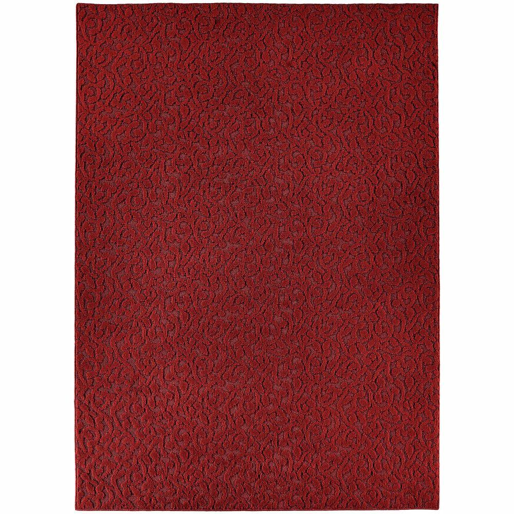 Garland Rug Ivy Chili Red 9 Ft X 12 Ft Area Rug Cl 01 0n