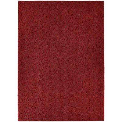 Ivy Chili Red 9 ft. x 12 ft. Area Rug