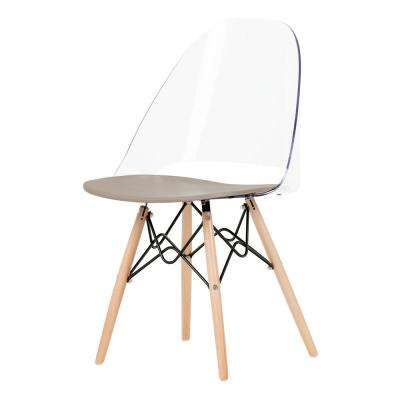 Annexe Clear and Gray Eiffel Style Office Chair
