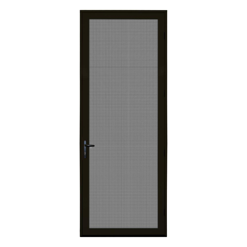 36 in. x 96 in. Bronze Surface Mount Right-Hand Ultimate Security
