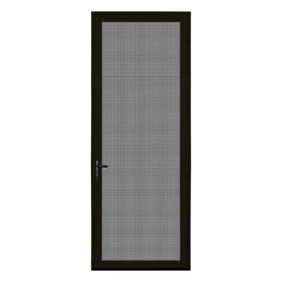 36 in. x 96 in. Bronze Surface Mount Right-Hand Ultimate Security Screen Door with Meshtec Screen