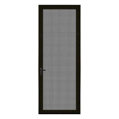 36 in. x 96 in. Bronze Surface Mount Right-Hand Meshtec Ultimate Screen Door