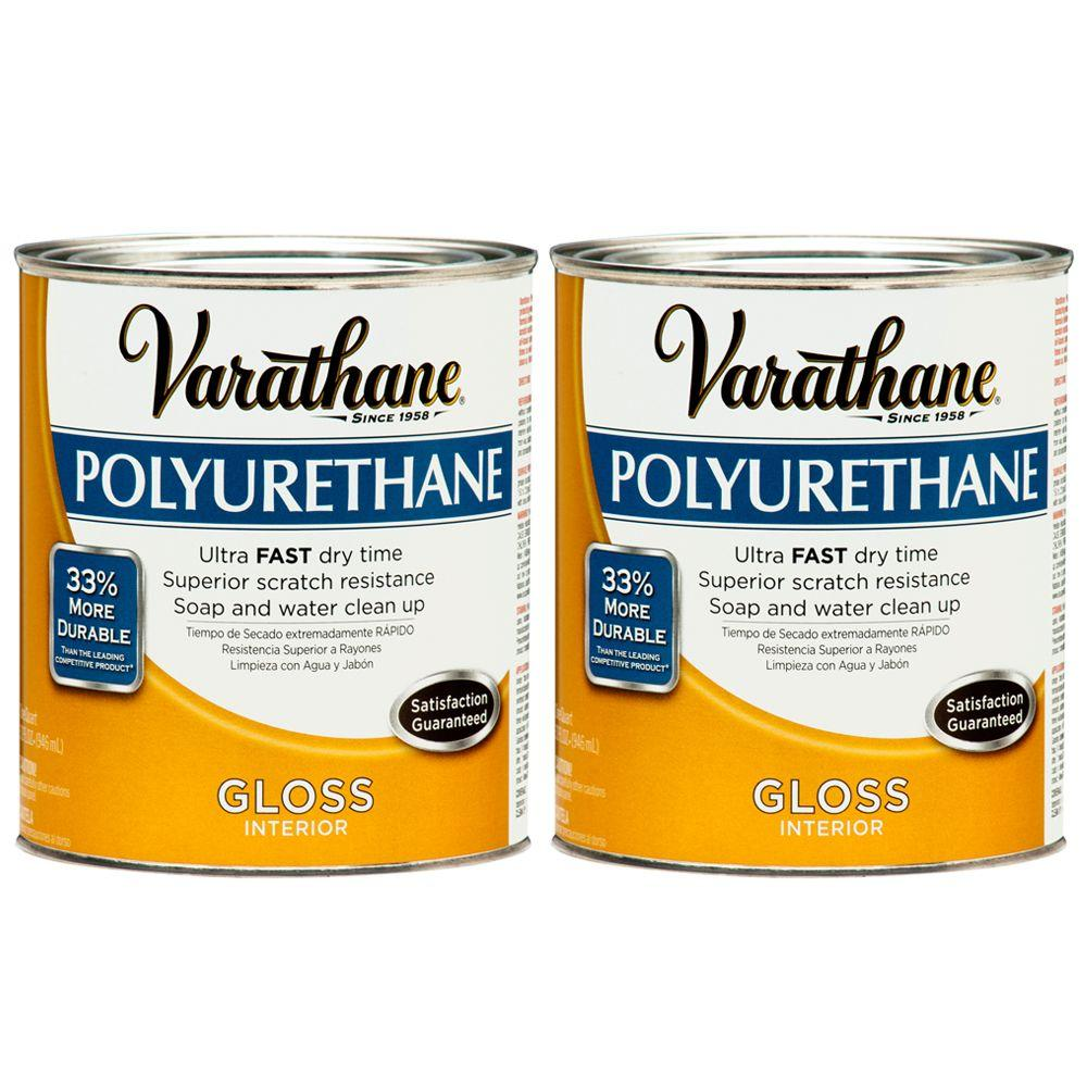 Varathane 1 Qt. Amber Gloss Polyurethane (2-Pack)-DISCONTINUED