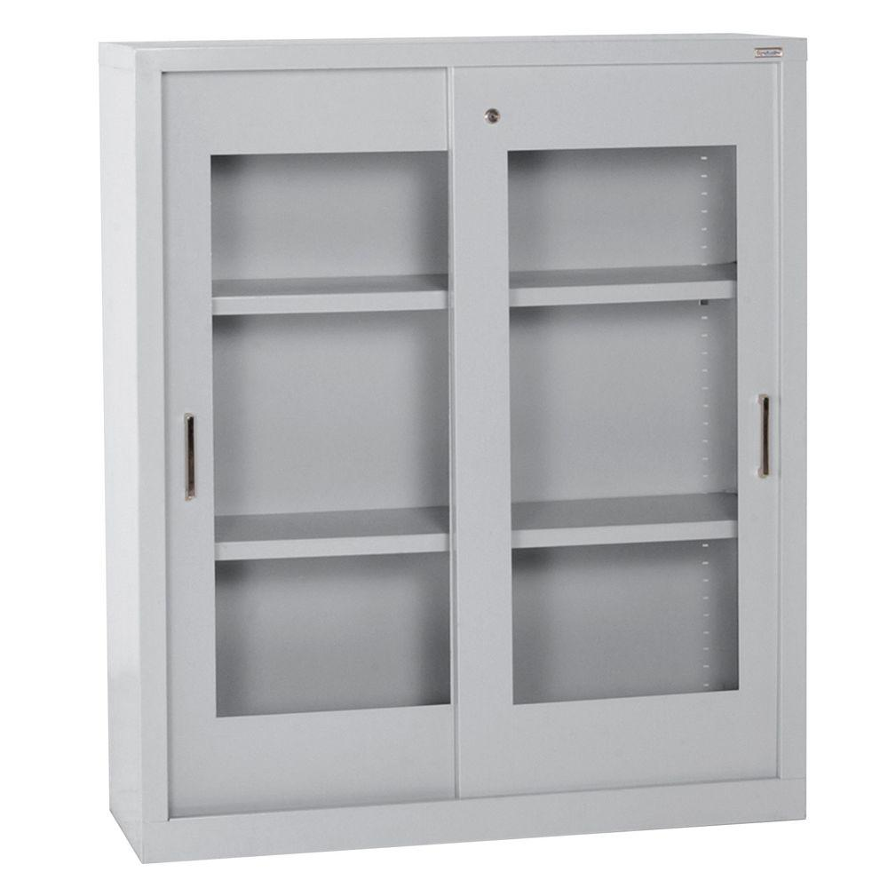 Sandusky 42 in h x 36 in w x 18 in d steel freestanding for 18 door
