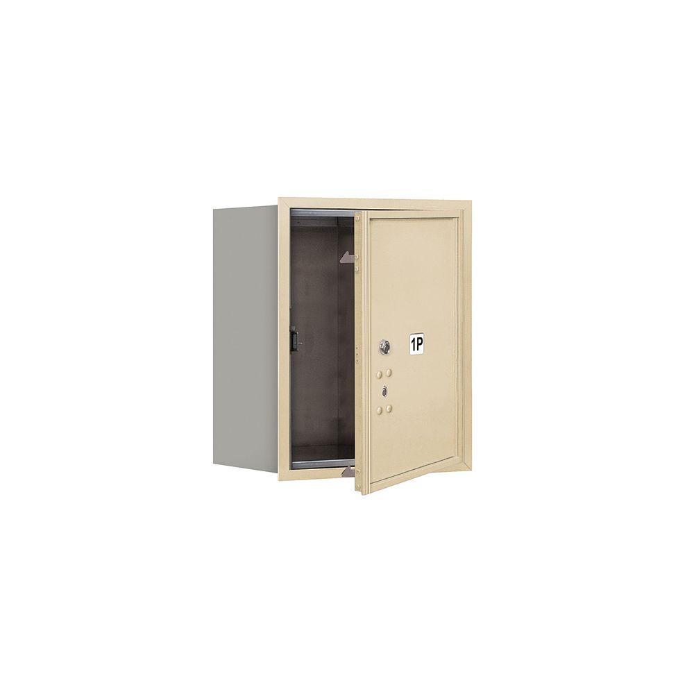 Salsbury Industries 3700 Series 20 in. 5 Door High Unit Parcel Locker 1 PL5 4C USPS Front Loading Horizontal Mailbox in Sandstone