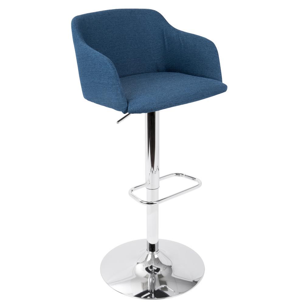 Lumisource Daniella Blue Adjustable Barstool Bs Dnlla Bu