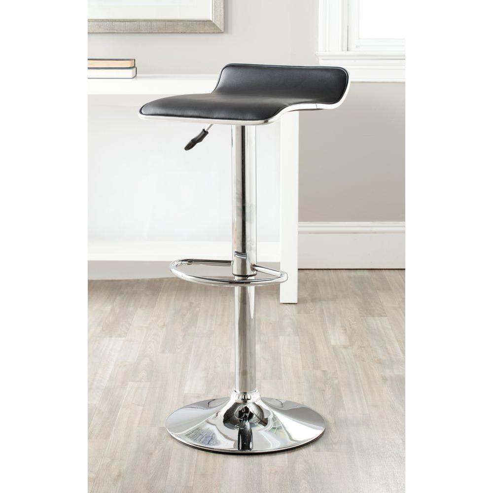 Chaunda Adjule Height Chrome Swivel Cushioned Bar Stool