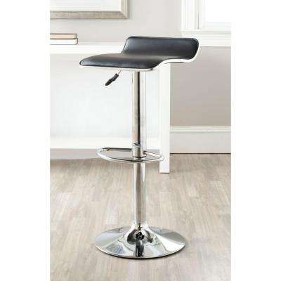 Chaunda Adjustable Height Chrome Swivel Cushioned Bar Stool