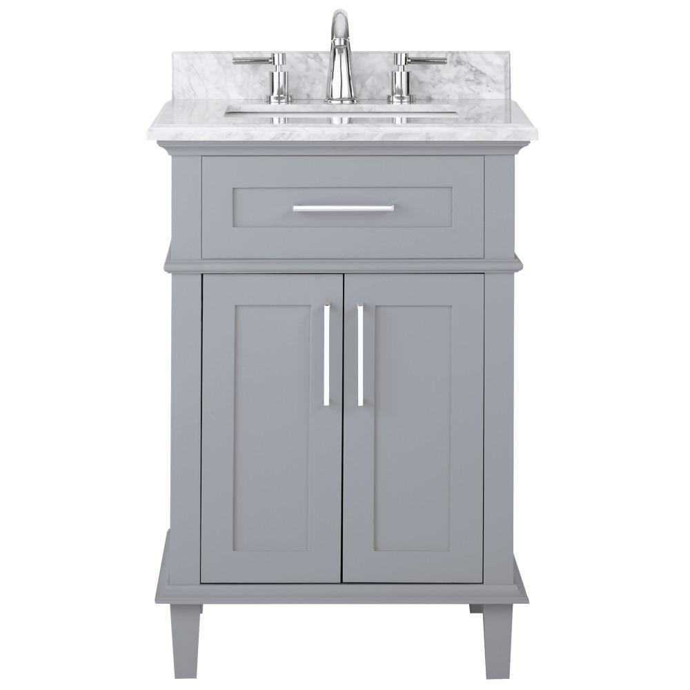 Grey And White Marble Bathroom: Home Decorators Collection Sonoma 24 In. W X 20.25 In. D