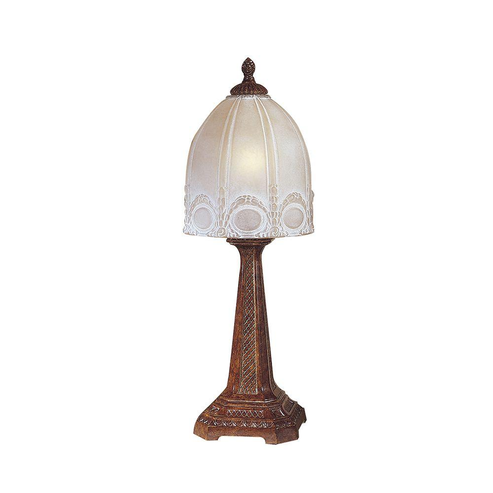 Dale Tiffany 22 in. Courtlyn Antique Bronze Table Lamp