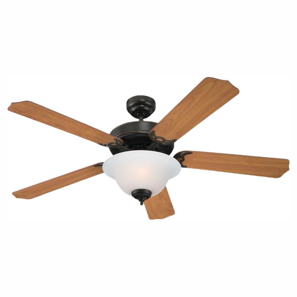 Sea Gull Lighting Quality Max Plus 52 in. LED Heirloom Bronze Indoor Ceiling Fan