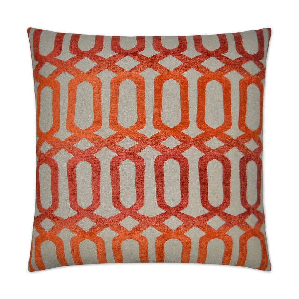 Nakita Orange Feather Down 24 in. x 24 in. Decorative Throw Pillow