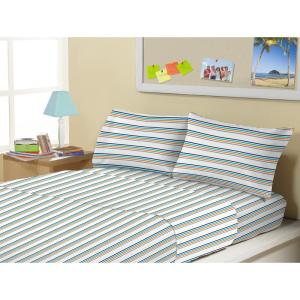 Electric bands Microfiber Twin 3-Piece Sheet Set by