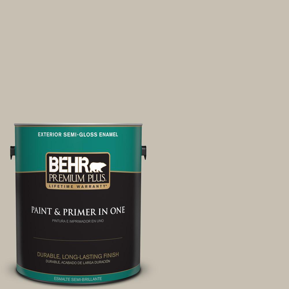 1 gal. #PPU8-17 Fortress Stone Semi-Gloss Enamel Exterior Paint