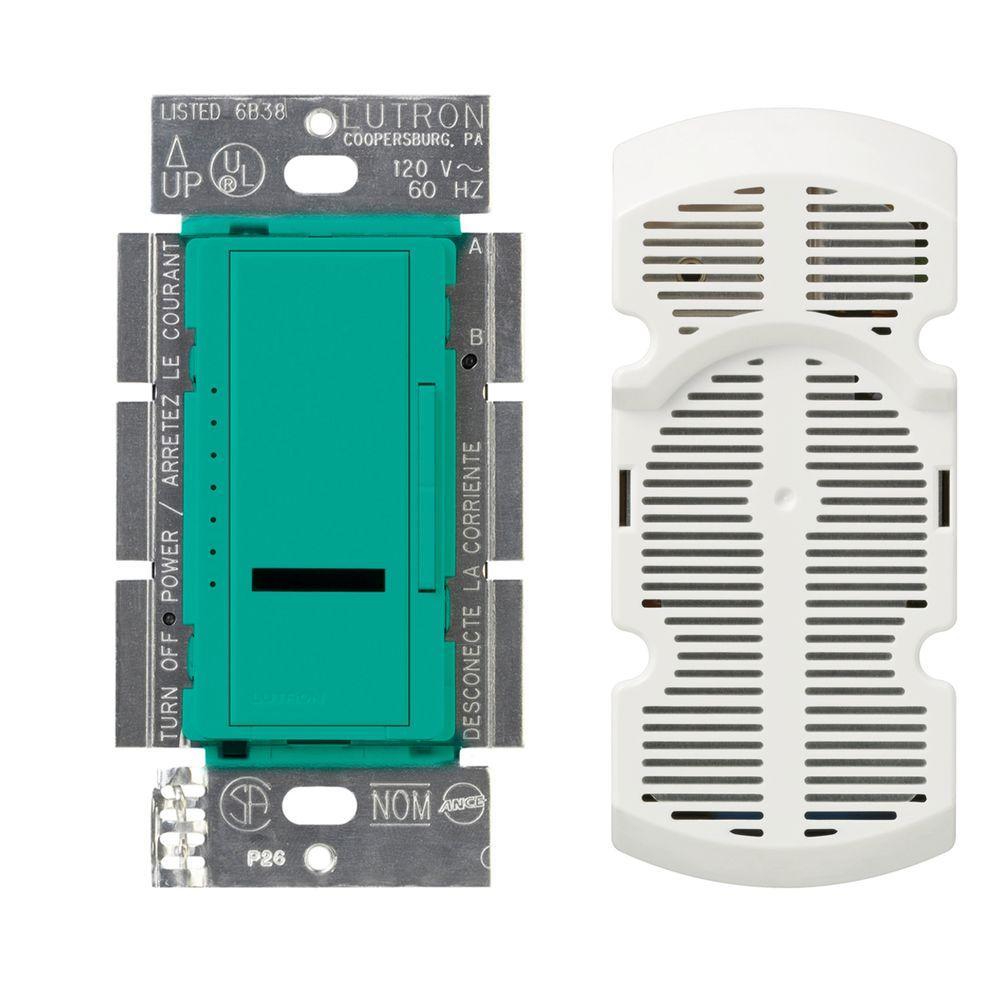 Lutron Maestro IR Multi-Location 7-Speed Digital Fan Control - Turquoise