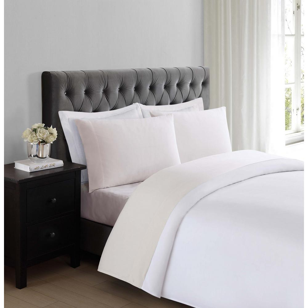 4 Piece Queen Sheet Set Deep Pockets Wrinkle Free Bed Sheets Everyday Soft  Ivory