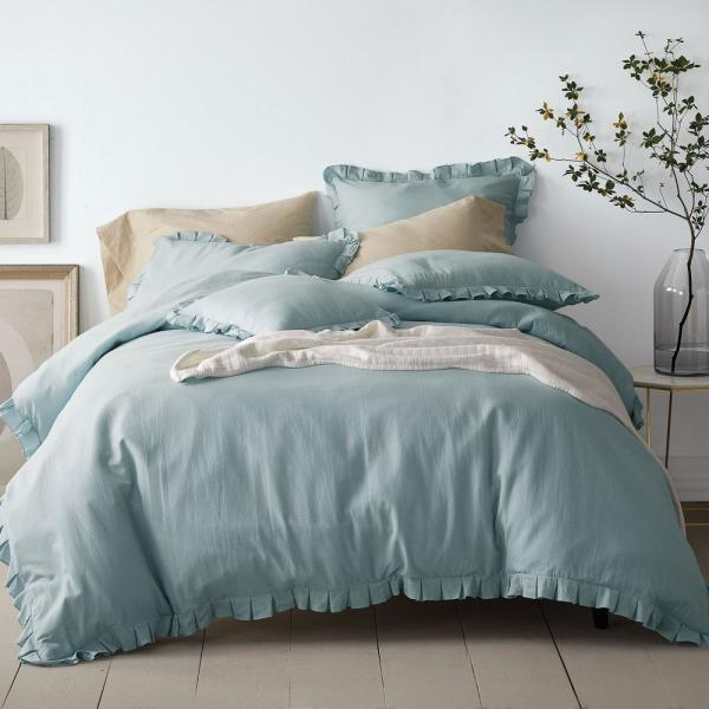 Cotton Linen Duvet Cover Queen