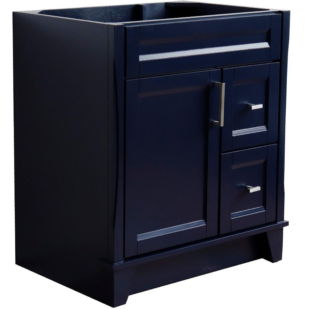 30 in. W x 21.5 in. D Single Bath Vanity Cabinet Only in Blue