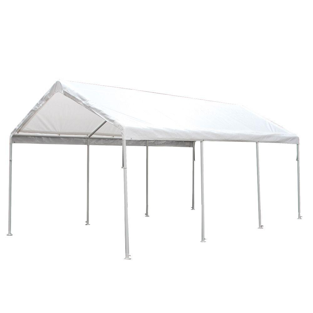 King Canopy Hercules 10 Ft W X 20 Ft D Steel Canopy Hc1020pc The Home Depot