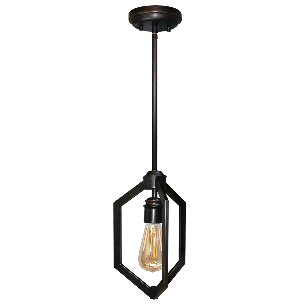 1-Light Carina Oil Rubbed Bronze Mini-Pendant