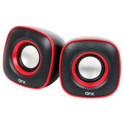 2.0 USB Powered Multimedia Speaker System, Black