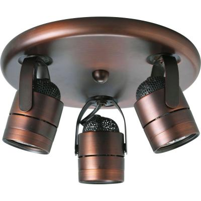 3-Light Urban Bronze Spotlight Fixture