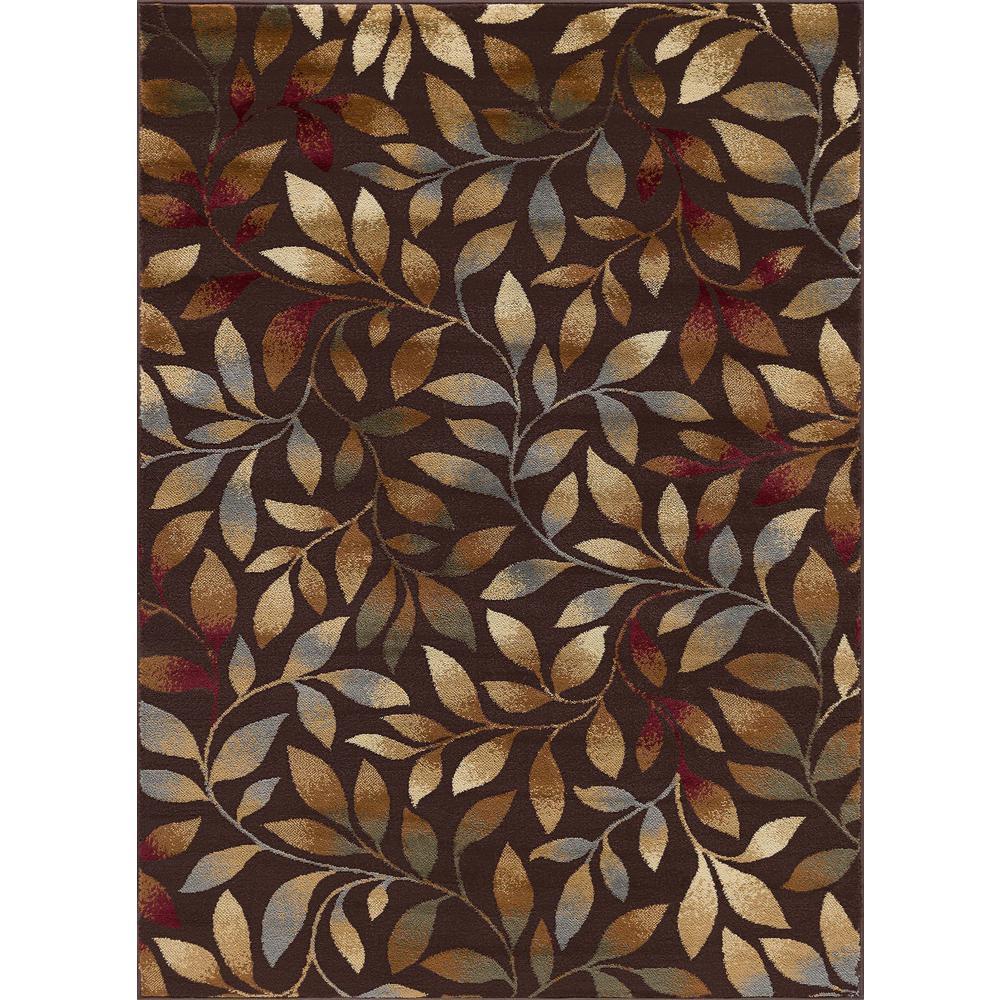 Elegance Brown 9 ft. x 13 ft. Indoor Area Rug