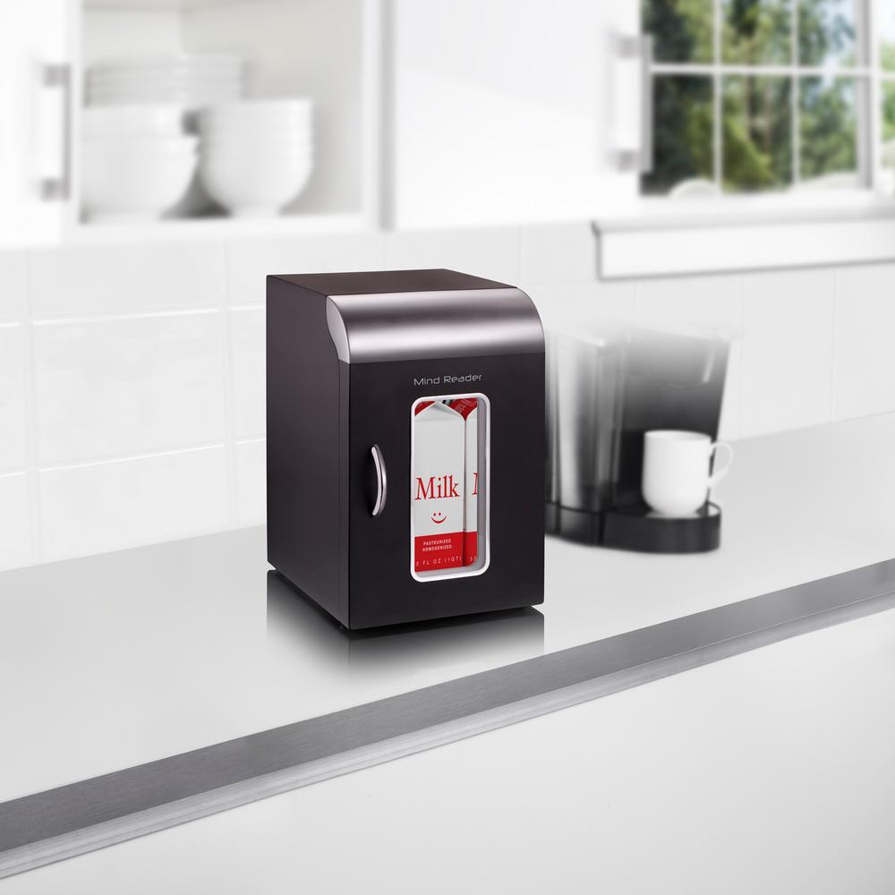 Mind Reader Cube-Mini Coffee Station Refrigerator, Black