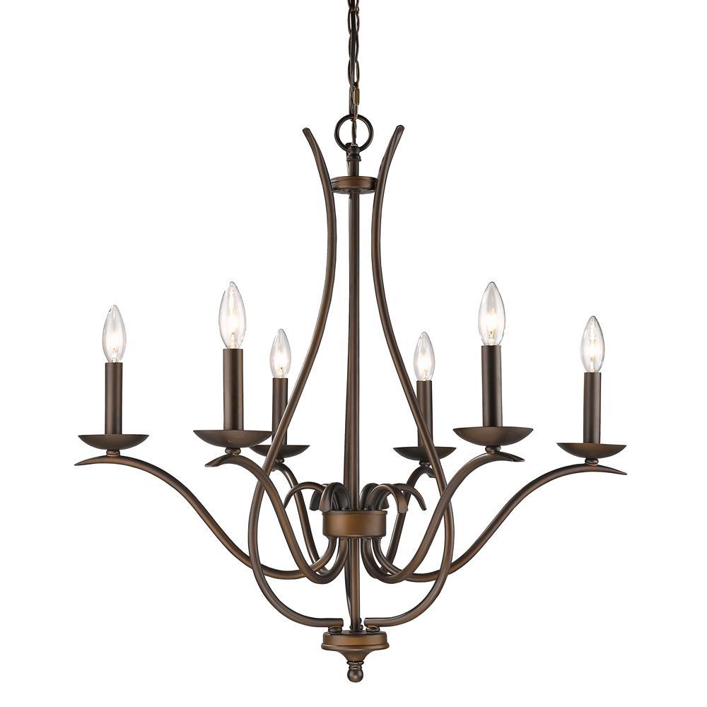 Genevieve Indoor 6-Light Oil Rubbed Bronze Chandelier