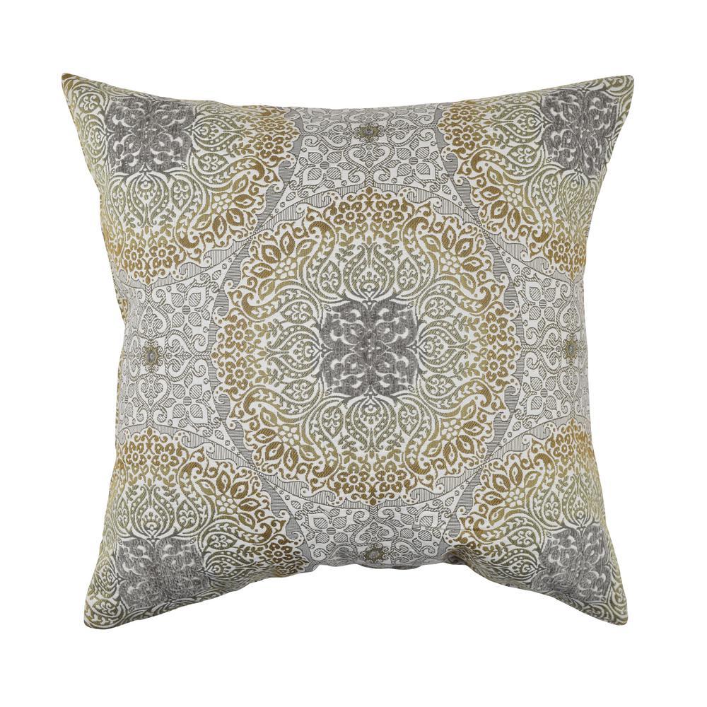 Earth Tone Aboriginal Flocked Throw Pillow