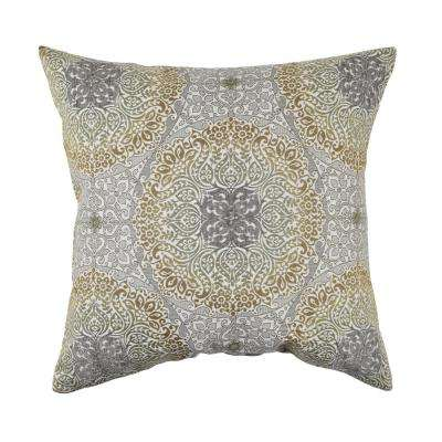 Aboriginal Flocked Throw Pillow