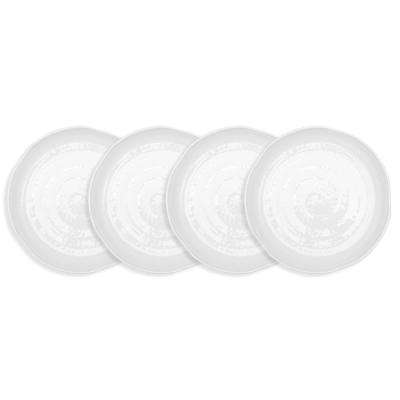 Pearl 4-Piece 9.5 in. White Melamine Salad Plate Set