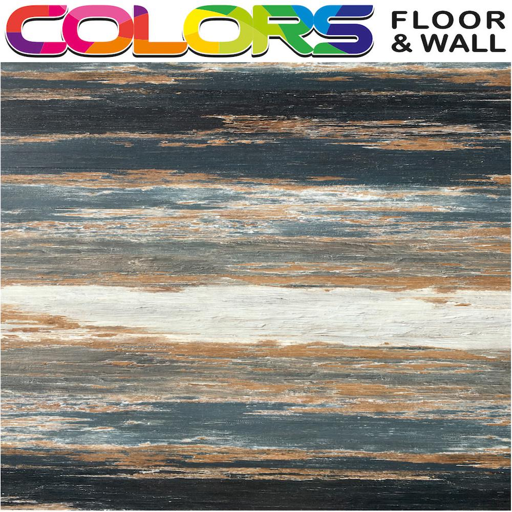 Deco Products COLORS Floor and Wall DIY Old Black Smoke Aged 6 in. x36 in. Painted Style Glue Down Luxury Vinyl Plank(30 sq. ft./case)