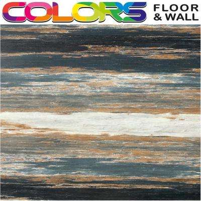 COLORS Floor and Wall DIY Old Black Smoke Aged 6 in. x36 in. Painted Style Glue Down Luxury Vinyl Plank(30 sq. ft./case)