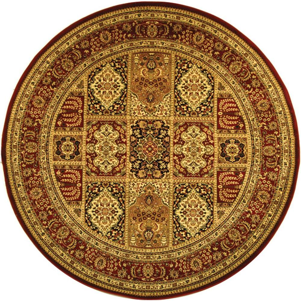 Safavieh Lyndhurst Multi/Red 5 ft. 3 in. x 5 ft. 3 in. Round Area Rug