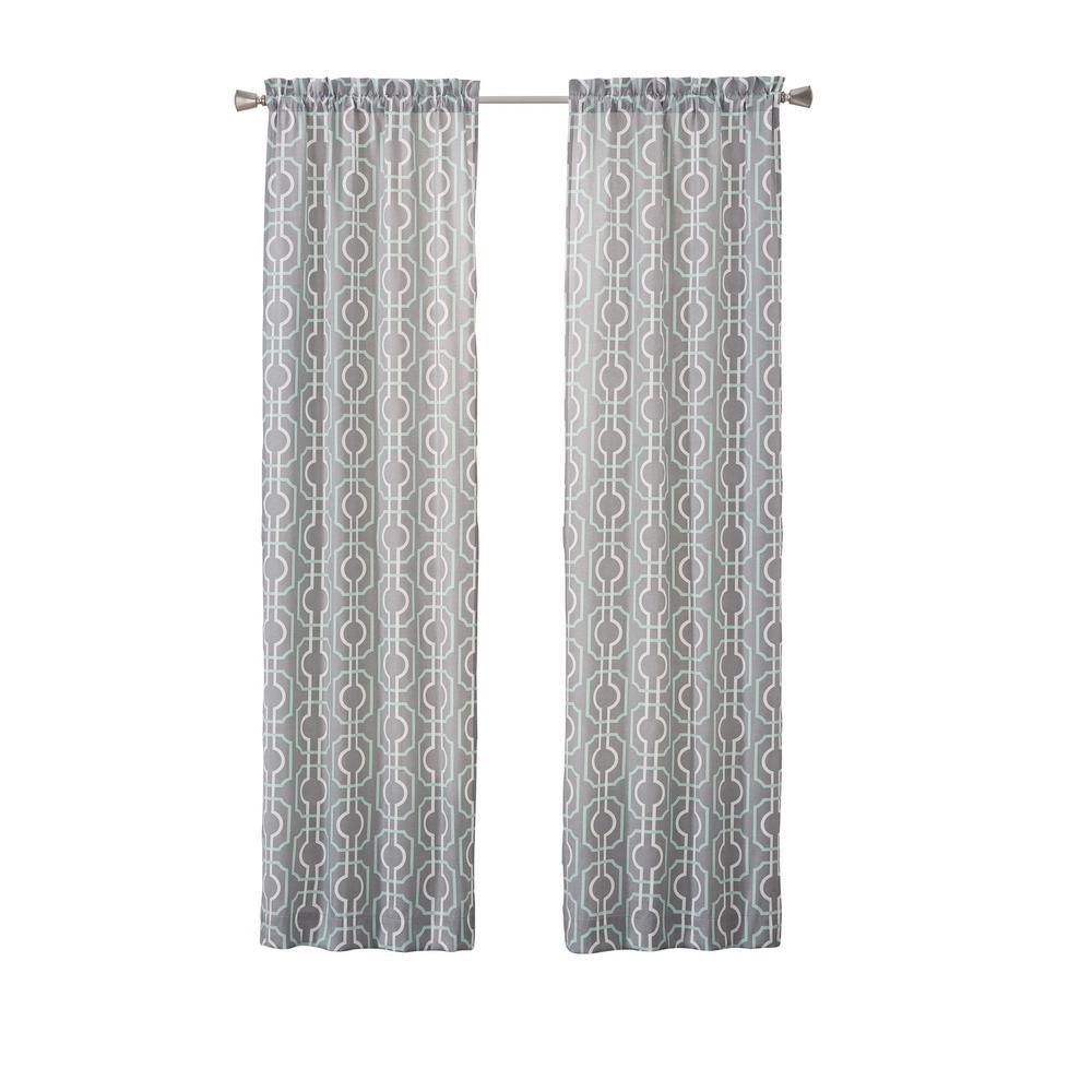 Arlene 84 in. L Polyester Rod Pocket Drapery Panel Pair in Mint
