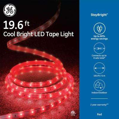Red christmas rope lights christmas lights the home depot 240 light led red super bright tape light aloadofball Choice Image