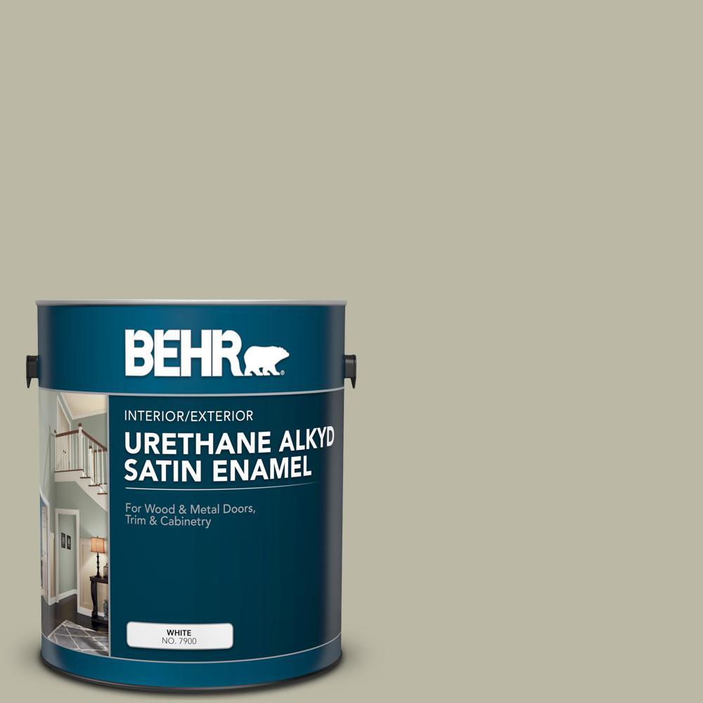 Behr 1 Gal 400f 4 Restful Urethane Alkyd Satin Enamel Interior