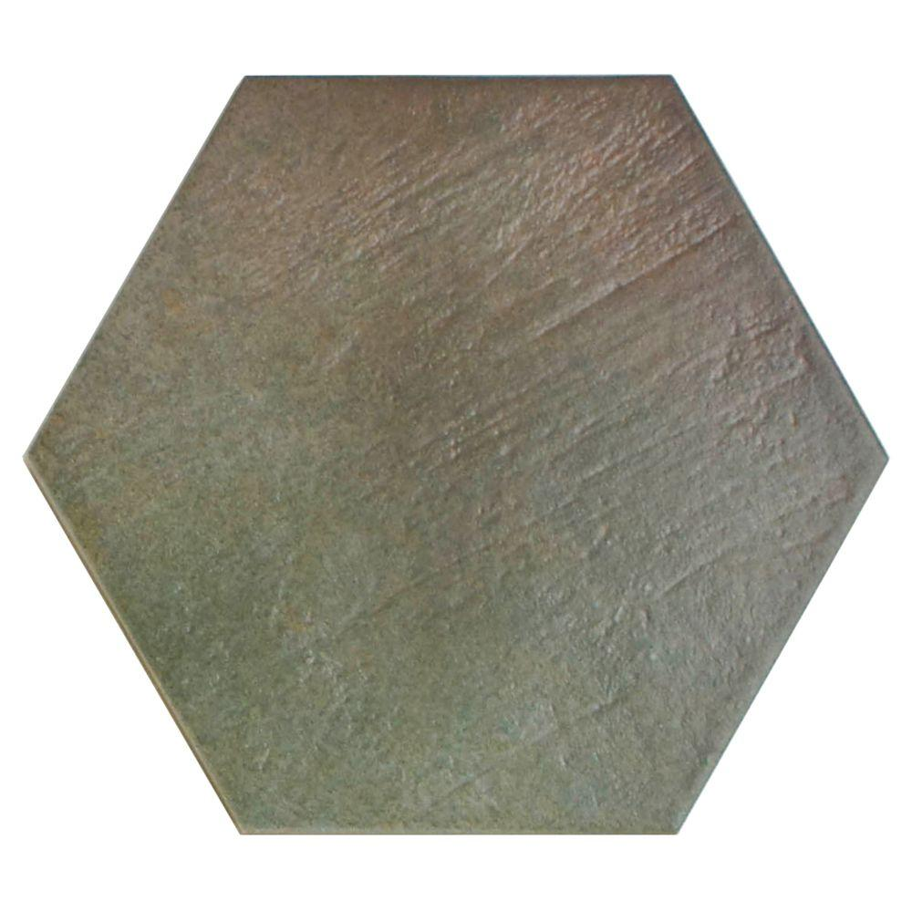 Merola Tile Hexatile Matte Musgo 7 in. x 8 in. Porcelain Floor and Wall Tile (2.2 sq. ft. / pack)