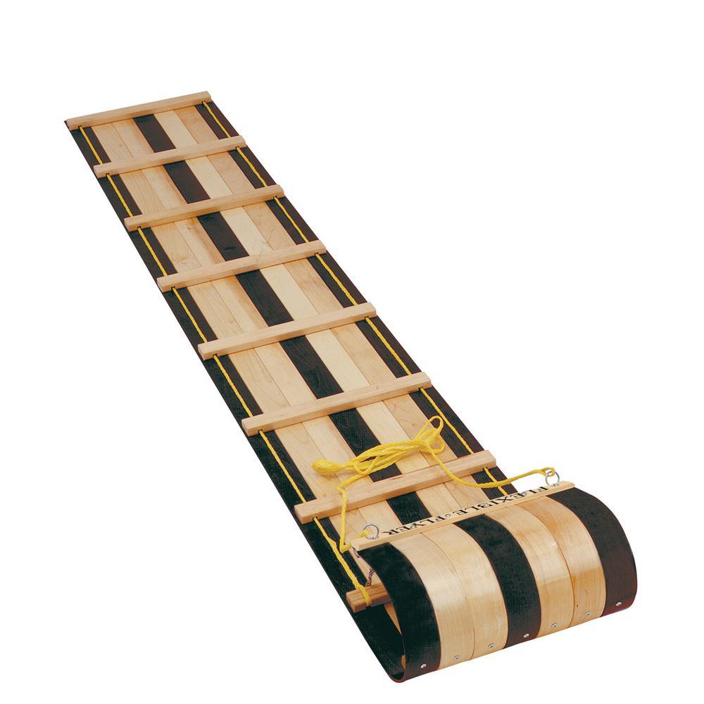 6 ft. Classic Wooden Toboggan
