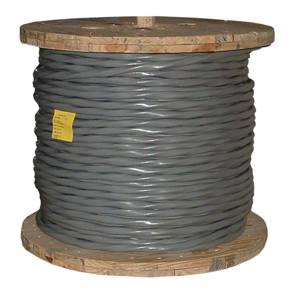 Southwire 500 ft. 1/0-1/0-1/0-2 Gray Stranded AL SER Cable-13104501 ...