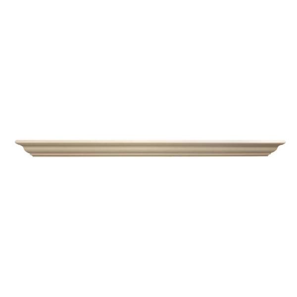 Classic 5 ft. Paint Grade Aspen Cap-Shelf Mantel
